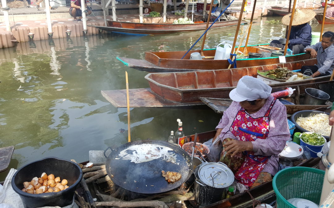 Experience the Original Tha Kha Floating Market & Maeklong Railway Market