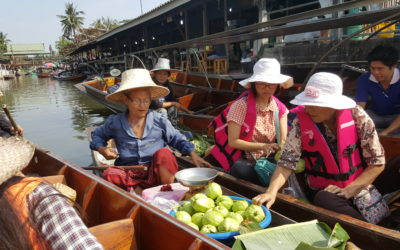 One day explore the most popular 3 floating markets